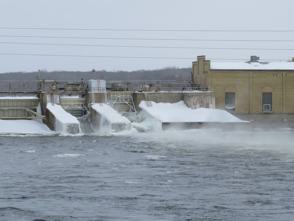 Dam across the Mississippi River in Sartell, Minnesota