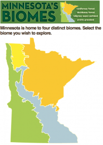 The biomes of Minnesota. Credit - Minnesota Department of Natural Resources