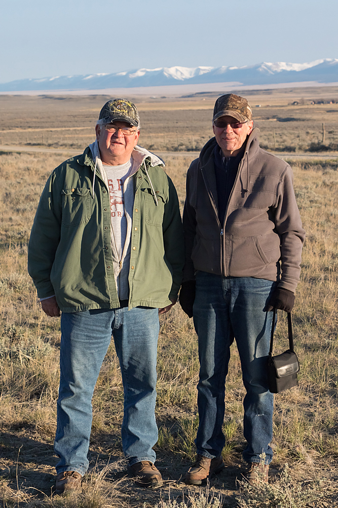 The old biologists: Rick Wallestad and Charlie Eustace