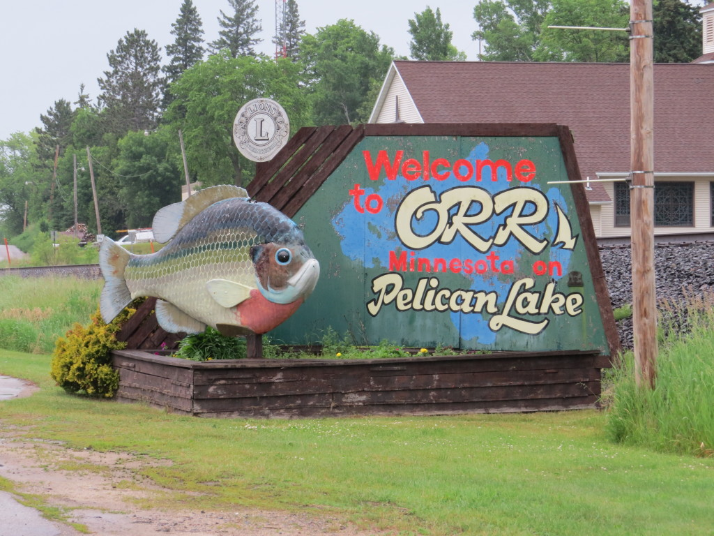 Orr Pelican Lake sign